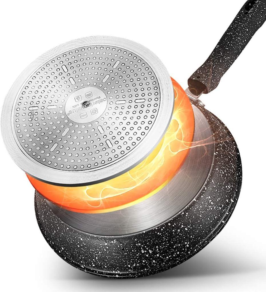 Guoguocy POÊLON, 30cm Skillet Batterie de Cuisine antiadhésive, 100% APEO & PFOA sans Pierre dérivé Revêtement Anti-adhésif, Adapter aux Divers Poêles (Color : A) A