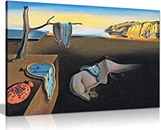 Best Salvador Dali Persistance of Time Canvas Wall Art Picture Print (36x24in) Review