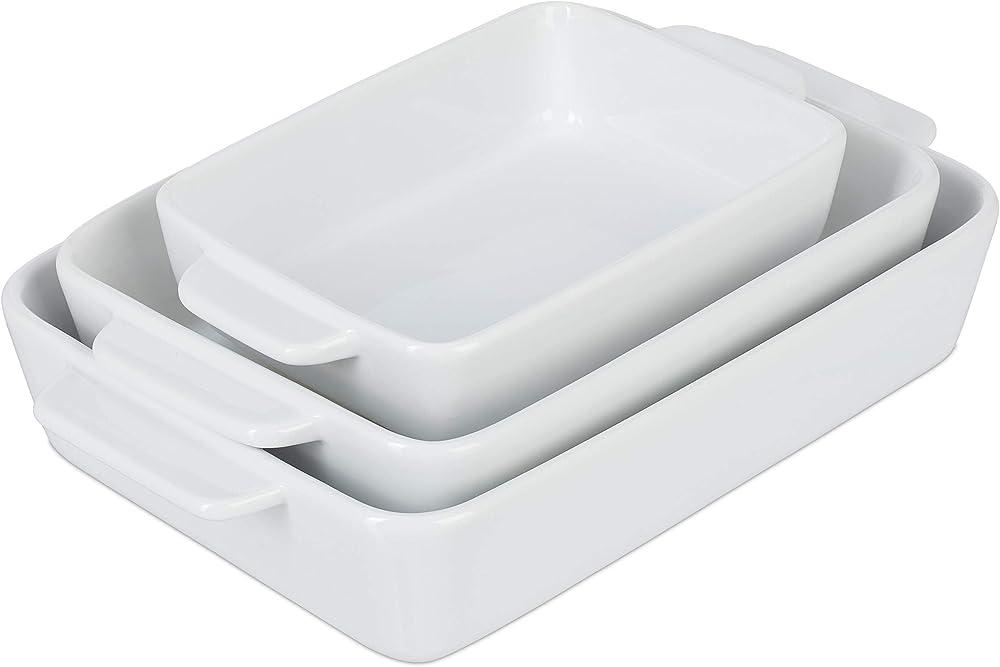 Relaxdays, teglie in ceramica da forno, set da 3 pezzi 10034329