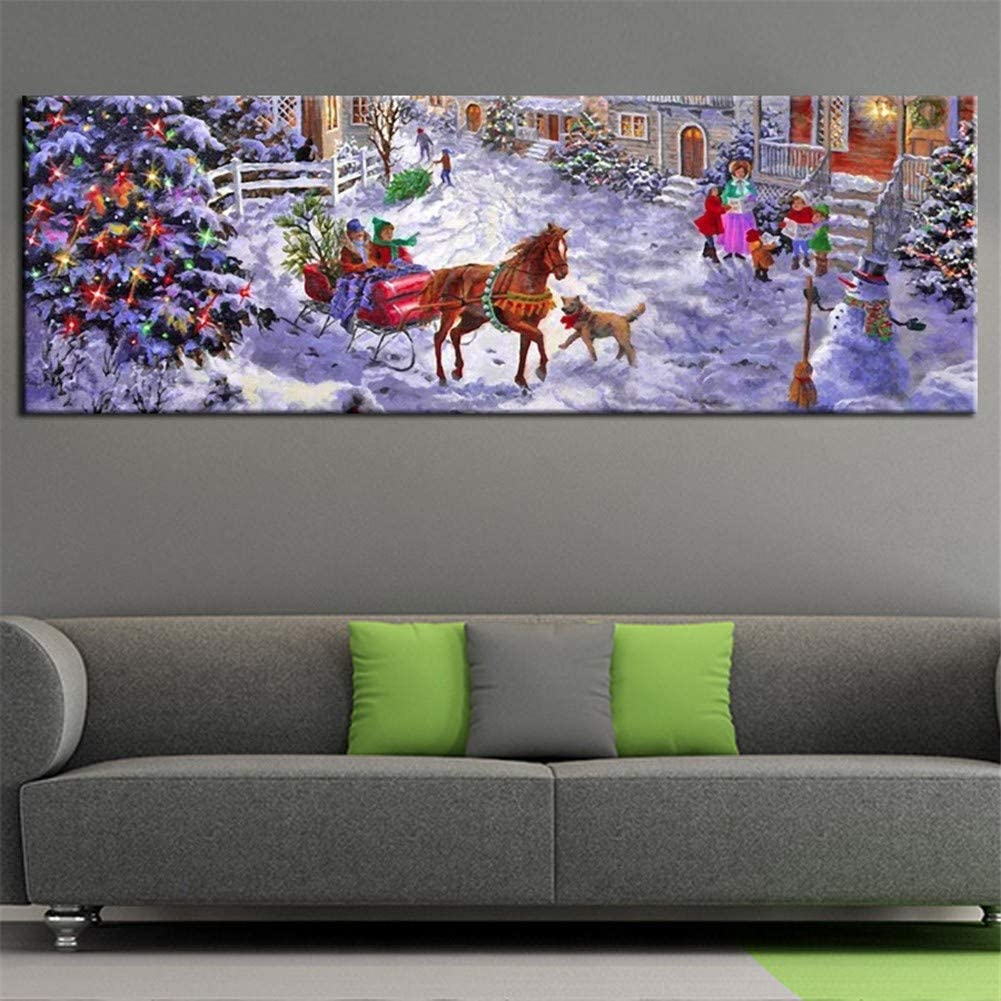 Diamond Painting by Number Tampa Mall Kits Christmas Dri Full 80x220cm low-pricing Snow