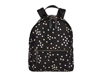 Kate Spade New York Nylon City Pack Confetti Stars Medium Backpack (Black Multi) Backpack Bags