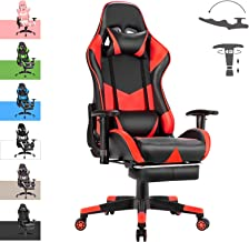 Advwin Gaming Chair Racing Style, Ergonomic Design with Footrest Reclining Executive Computer Office Chair, Relieve Fatigu...