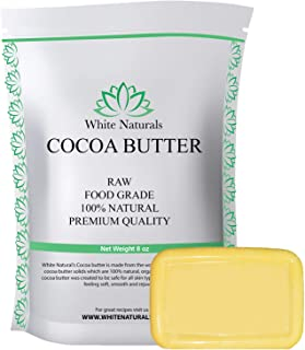 Cocoa Butter 8 oz,Unrefined, Raw, 100% Pure, Natural - For DIY Recipes, Body Butters, Soap Making, Lotion, Shampoo, Lip Ba...