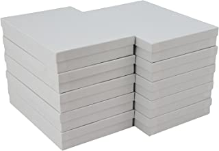 """JPB White Swirl Cotton Filled Jewelry Boxes #85 (Pack of 10) 8"""" x 5.5"""" x 1.25"""" …"""