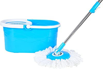 Regalo Plastic Easy Spin Mop (Blue, 4-Pieces, DHY_557)