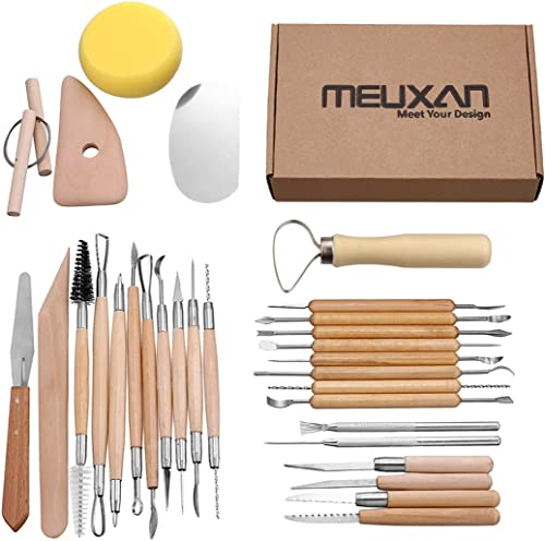 7 Pin Wire Texture Brush Pottery Tools Polymer Clay Sculpting Modeling Tool PVCA