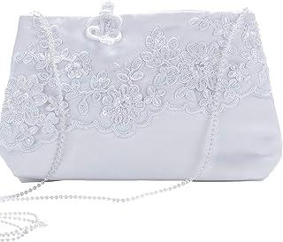 Kommuniontasche Tasche zum Kommunionkleid Satin weiß Organza Rüschen NEU