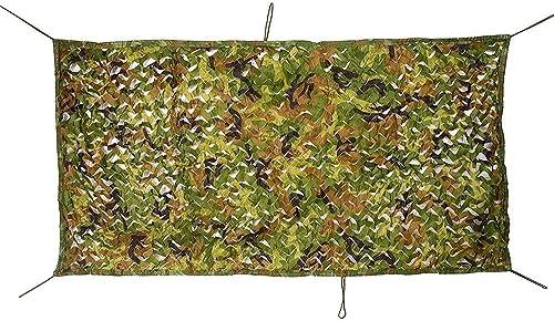 Ljdgr Filet Camo Visière Extérieure GR Filet de Camouflage de Jungle Camping en Cuir avec Abat-Jour décoratif Filet de Camouflage Oxford en Tissu (Taille  5x6m) Armée Camo Filet (Taille   6x10M)