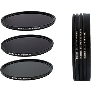 copriobiettivo Pro Lens Cap Set di filtri neutri Slim composto da ND8 ND64 ND1000 da 58 mm Timetrends24//Haida portafiltri Stack Cap