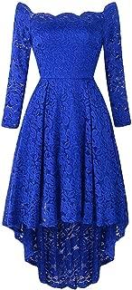 DongDong✫One Shoulder Mermaid Dress, Women Long Sleeve Lace Trumpet Ball Party Maxi Dress