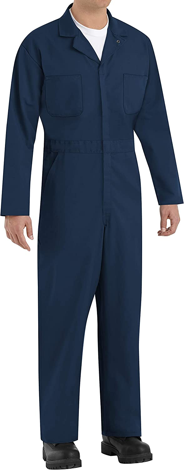 Red Kap quality assurance Men's Long Sleeve sold out Twill Coverall Action Back