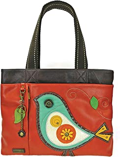 Chala Big Tote, Faux Leather, Canvas Handles, Animal Prints