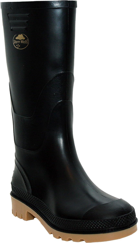 StormWells Boys Kids Infant Youth Waterproof Rain Puddle Wellington Boots Wellies Shoes UK Sizes 10-6
