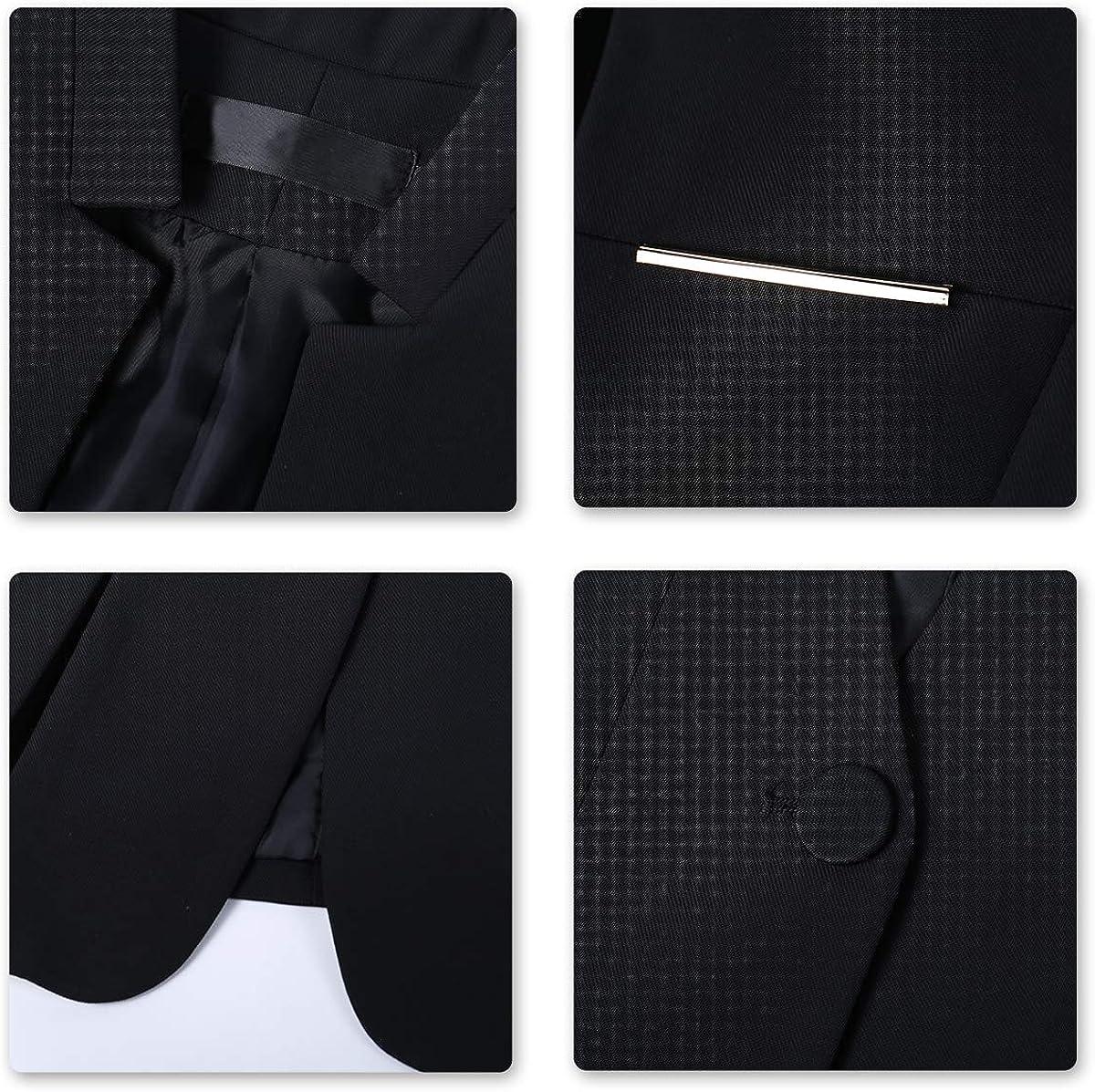 YYNUDA con un bottone Tuta da donna slim fit giacca da lavoro e da ufficio 2 pezzi