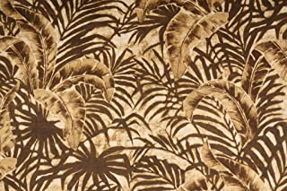 Robert Allen/Beacon Hill Hearty Leaves Italian Made Poly Outdoor Fabric in Sepia