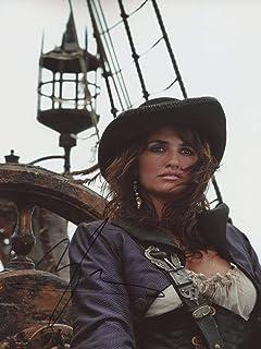 Penelope Cruz Pirates of The Caribbean ON Stranger Tides signerad 12 x 8 foto IMG04 autentisk + COA