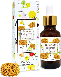 B-URBAN Fenugreek Oil 100% Natural Pure Undiluted Uncut Carrier Oil 30ml
