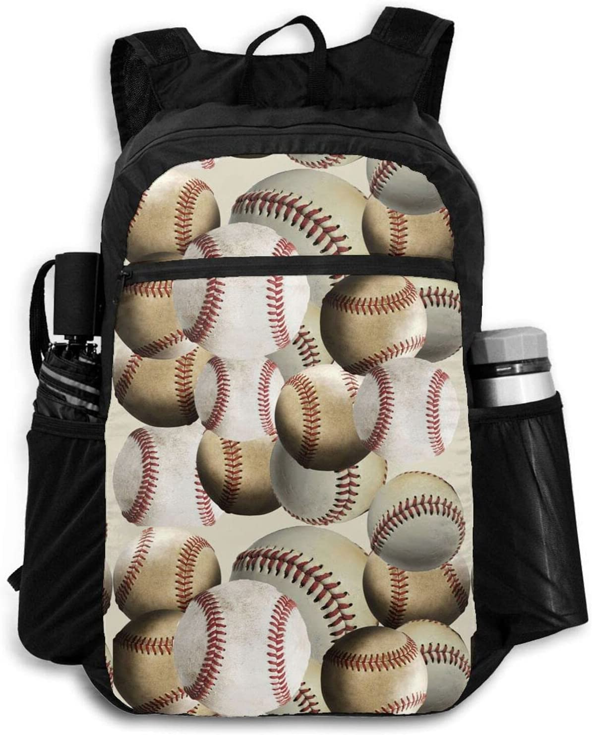 Zolama Sports Baseball Backpacks High order Dallas Mall for Day Women Packable Men Cute