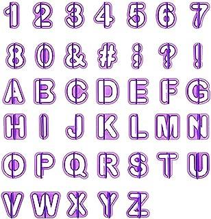 LEMESO lihao miniamoladora Letras cortadores Fondant Moldes Alfabeto Números zeichensetzung Decoración para Tartas