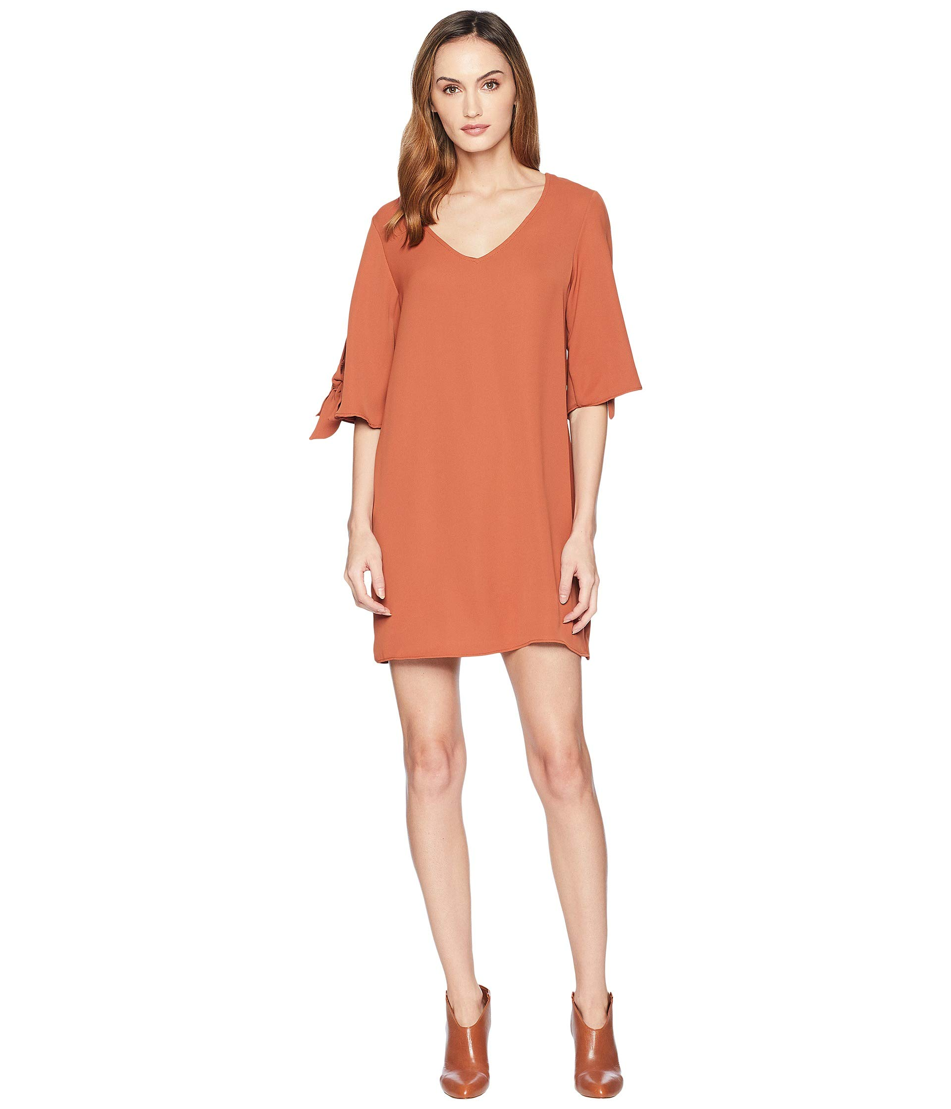 Rose Ireland Dress Shift Brown American HZdqwH