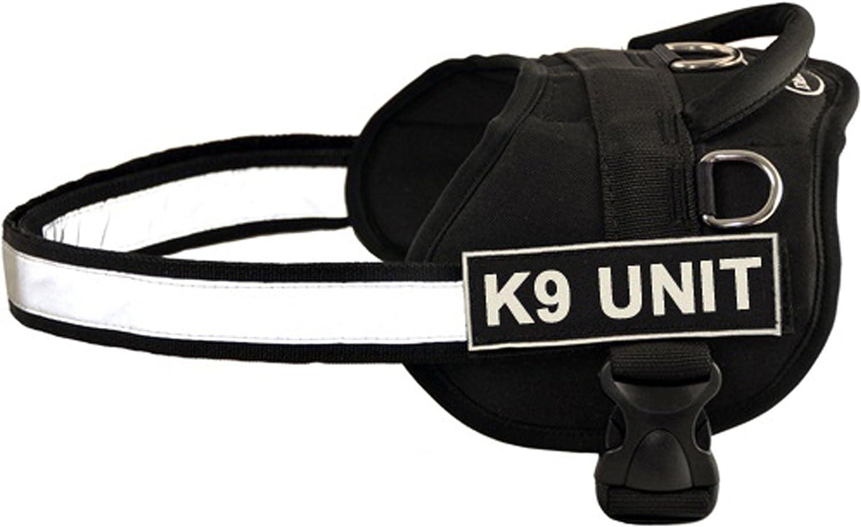 Dean & Tyler Works Harness, K9 Unit, XSmallFits Girth, 53cm to 66cm, Black White