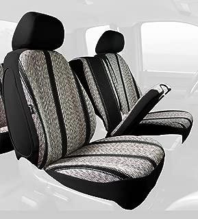 Fia TR48-30 BLACK Custom Fit Front Seat Cover Split Seat 40/20/40 - Saddle Blanket, (Black)