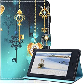 Billionn Case for Amazon Fire HD 10 (7th Gen/ 5th Gen, 2017/2015 Release) Cute Slim PU Leather Soft TPU Inner, Stand Smart Cover Auto Wake/Sleep for Kindle Fire HD 10 inch, Antique Clock