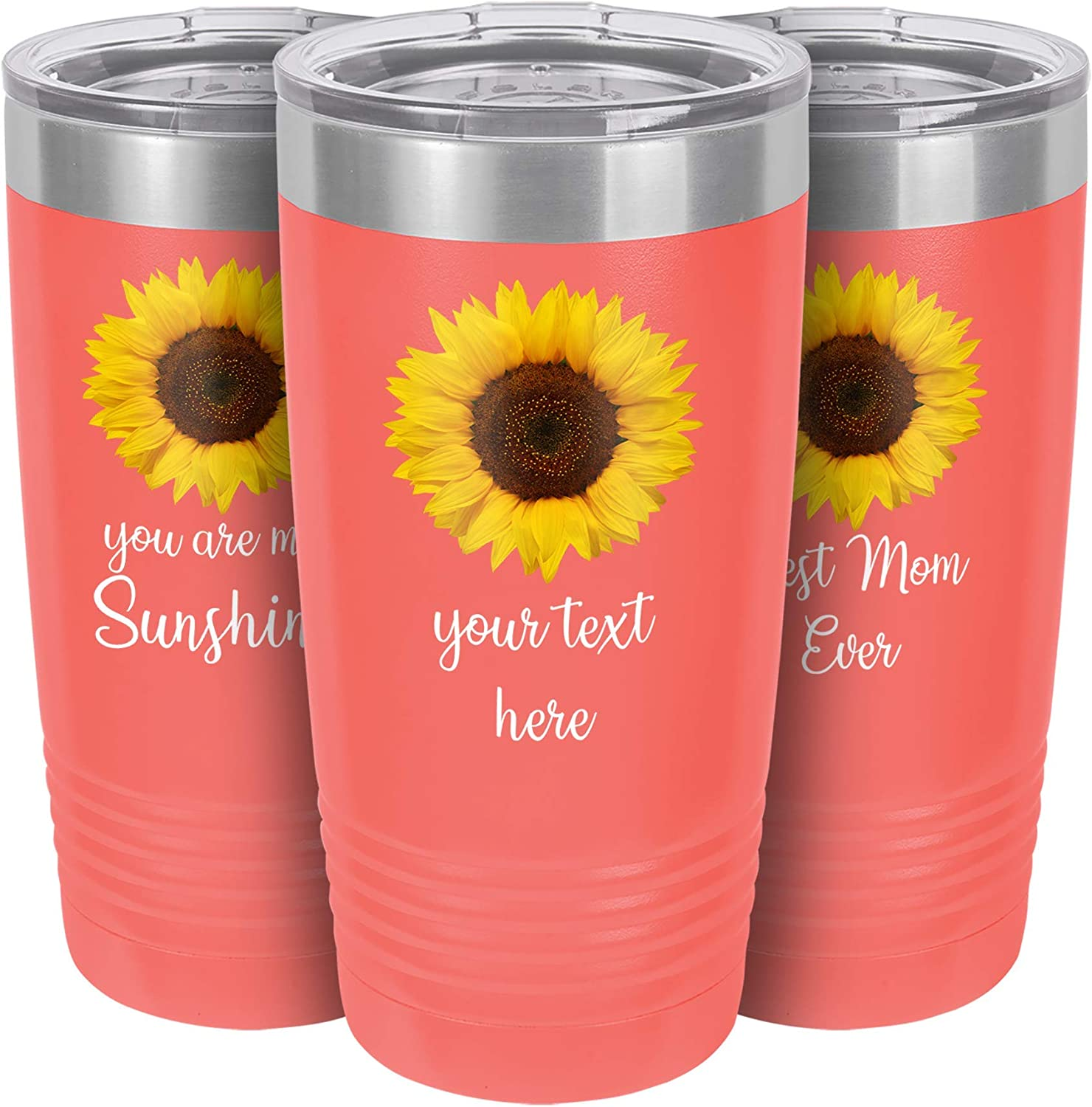 Fixed price for sale Personalized Sunflower Tumbler with Lid Super popular specialty store Re 20 oz Mug