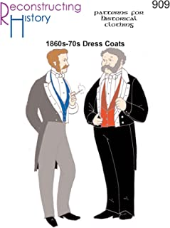 1860s-1870s Dress Coat or Tailcoat Pattern