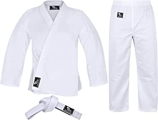 Hawk Sports Karate Uniform for Kids & Adults Lightweight Student Karate Gi Martial Arts Uniform Free Belt