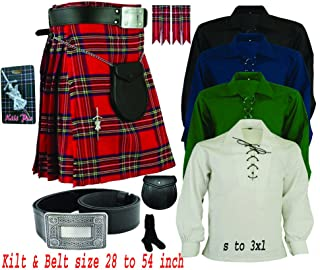 Men's Traditional Scottish Highland (08) Pieces Kilt outfit by House of Highland.