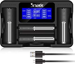 Snado LCD-skärm universell intelligent laddare för uppladdningsbara batterier Li-ion-batterier 18650 18490 18350 26650, N...