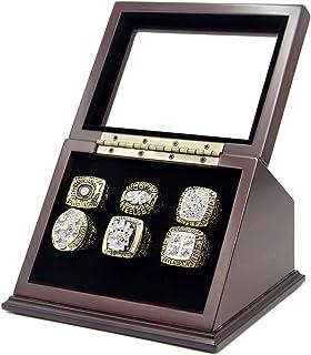 Rings Championship Box Box با 6 سوراخ و پنجره شیشه ای شیب دار برای هر حلقه مسابقات قهرمانی شامل نمی شود