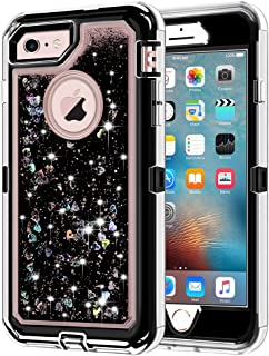 iPhone 6S Case, iPhone 6 Case, Anuck 3 in 1 Hybrid Heavy Duty Defender Case Sparkly Floating Liquid Glitter Protective Hard Shell Shockproof TPU Cover for Apple iPhone 6 /iPhone 6S 4.7