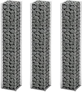 Retaining Wall Garden Edging Gabion Set 3 pcs Galvanized Wire 9.8