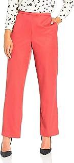Alfred Dunner womens full back elastic short length pant Pants