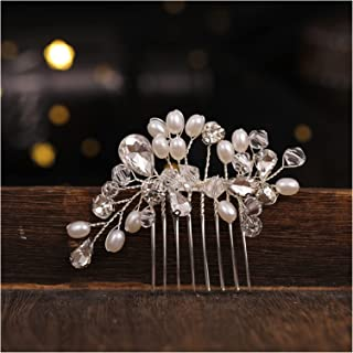 Hair Clip New Small Silver Color Hair Combs Beads Handmade Wedding Hair Accessories Cute Girls Women Hair Jewelry Pageant ...