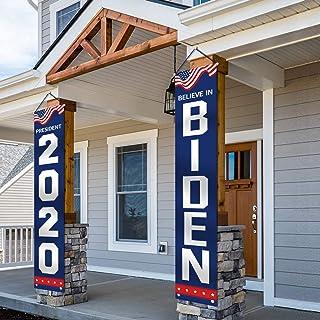 ORIENTAL CHERRY Biden 2020 Flag - Believe in Biden Large Banners Outdoor Yard Sign - Joe Biden for President - 2 Pack