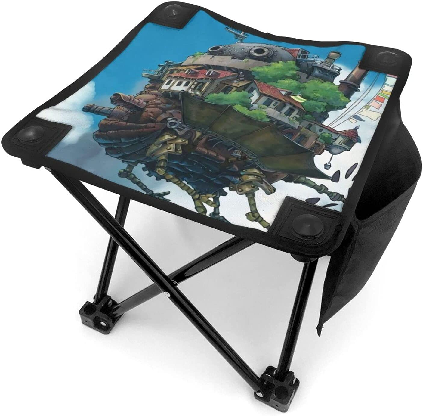 Anime Howl's OFFicial Moving Castle Folding Stool Some reservation Portable Chair