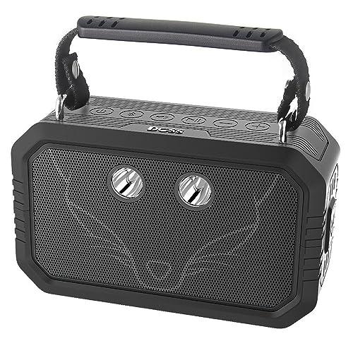 DOSS Traveler Enceinte Bluetooth Portable avec Étanche d'Extérieur IP66,20W avec Son de Qualité Supérieure -【Noir】