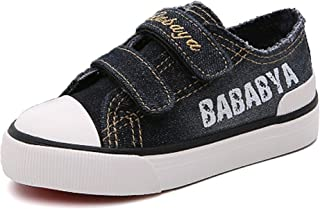Henraly Kids Washable Denim Low Top Casual Canvas Shoes Sneakers (Toddler/Little Kid/Big Kid)