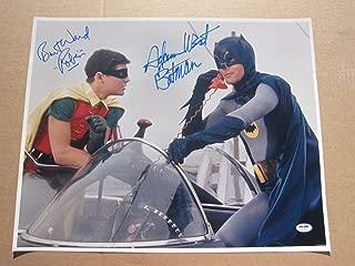 Adam West Burt Ward signed 16x20 Photo with Batman Robin inscriptions PSA/DNA