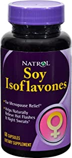 Natrol Soy Isoflavones - for Menopause Relief - no Gluten - 60 Capsules