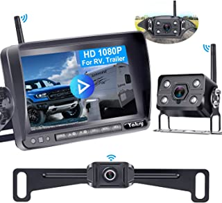 Wireless Backup Camera for RV HD 1080P,7 Inch DVR Monitor with Car/Truck Camera+RV Camera for Trailers,Motorhome 5th Wheel... photo
