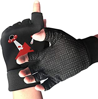 Adetad Non-Slip Half Finger Cycling Gloves Pyramids UFO Exercise Gloves for Gym Weight Lifting Training Fitness Biking
