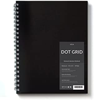 Vela Sciences Advanced Wirebound Lab Notebook, 9.25 x 11.75 inches, 144 Pages (1-Pack, Dot Grid)