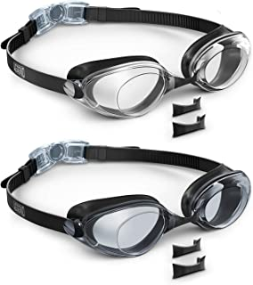 Aegend 2 Pack Swim Goggles, Swimming Goggles Flat Lenses,...