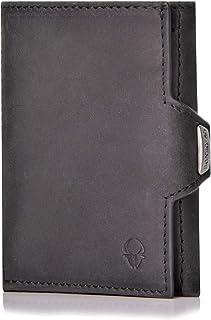 DONBOLSO® Wallety NextGen in cuoio I Portafoglio sottile con scomparto per le monete | Portafoglio con protezione RFID I F...