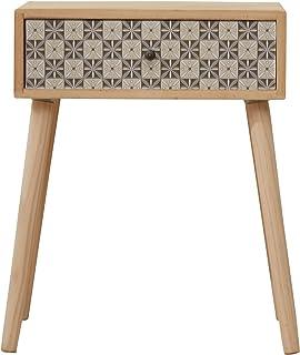 Rebecca Mobili Mesita de Noche 1 cajón, Mesa Lateral para sofá Moderna, Madera, Gris marrón Claro, Dormitorio de la Sala de Estar- Medidas: 56 x 45 x 30 cm (AxANxF) - Art. RE6117