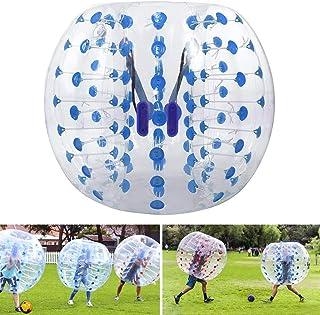 Triclicks Pelota Hinchable de Parachoques Bubble Soccer Ball Pelota de Burbuja Bola Inflable Diámetro 4 pies / 5 pies (1.2 m / 1.5 m) Pelotas de Burbuja para Adultos o niños (1.5m, Azul)